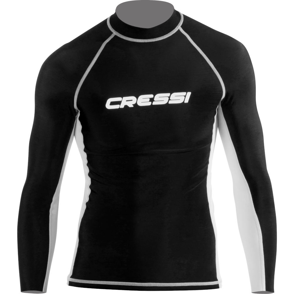 APOSTOLIDISDIVE CRESSI Rash guard Long Man Front-Black